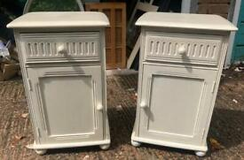 Pair cream bedside tables