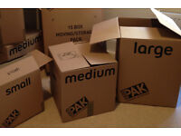 Moving house? *** House removal boxes * StorePAK Moving House Pack - 10 Boxes * used once