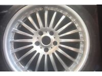 """18"""" Alloy wheels and low profile tyres"""