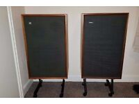 Two Genuine Vintage Goodmans Magnum K-2 Speakers with Stands