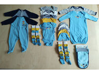Gerber Boys Matching Car Print Baby Clothes Bundle Set 3-6 Months