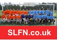 SATURDAY AFTERNOON FOOTBALL TEAM LOOKING FOR PLAYERS. 7JY