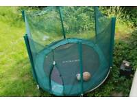 Sturdy 8ft wide trampoline with safety net £30 or best offer