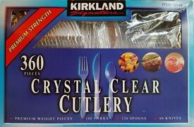 KIRKLAND CRYSTAL CLEAR CUTLERY NEW IN BOX - OPEN TO REASONABLE OFFERS