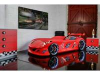 Children's Race car bed in red