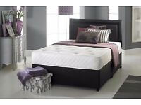 DIVAN BED SET + MATTRESS + HEADBOARD SIZE SINGLE DOUBLE KING !!!!