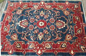 STUNNING VEGETABLE DYED AGRA INFLUENCED RUG, (7'x 5')