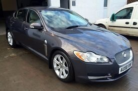 STUNNING 2008 Jaguar XF 2.7 diesel lux auto Gunmetal Grey/Light grey leather FSH 10 stamps mot 2017