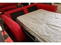 Modern double sofa bed ,metal mechanism with upgraded mattress