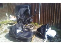 Pushchair Pram and car seat 3 in 1