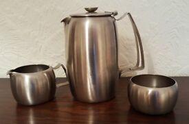 Retro Stainless Steel 1960s coffee set - Retro Style!