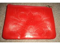 Red Christian Lcroix Rouge waterproof make-up/cosmetic/toiletry/travel/wash bag