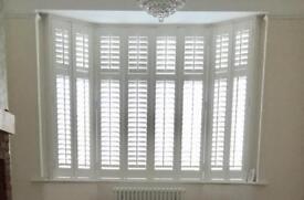 Shutter blinds for bay window