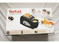 TEFAL TT550015 TOAST N' EGG, 2 SLICE TOASTER, POACHER BOILED COOKER - BRAND NEW