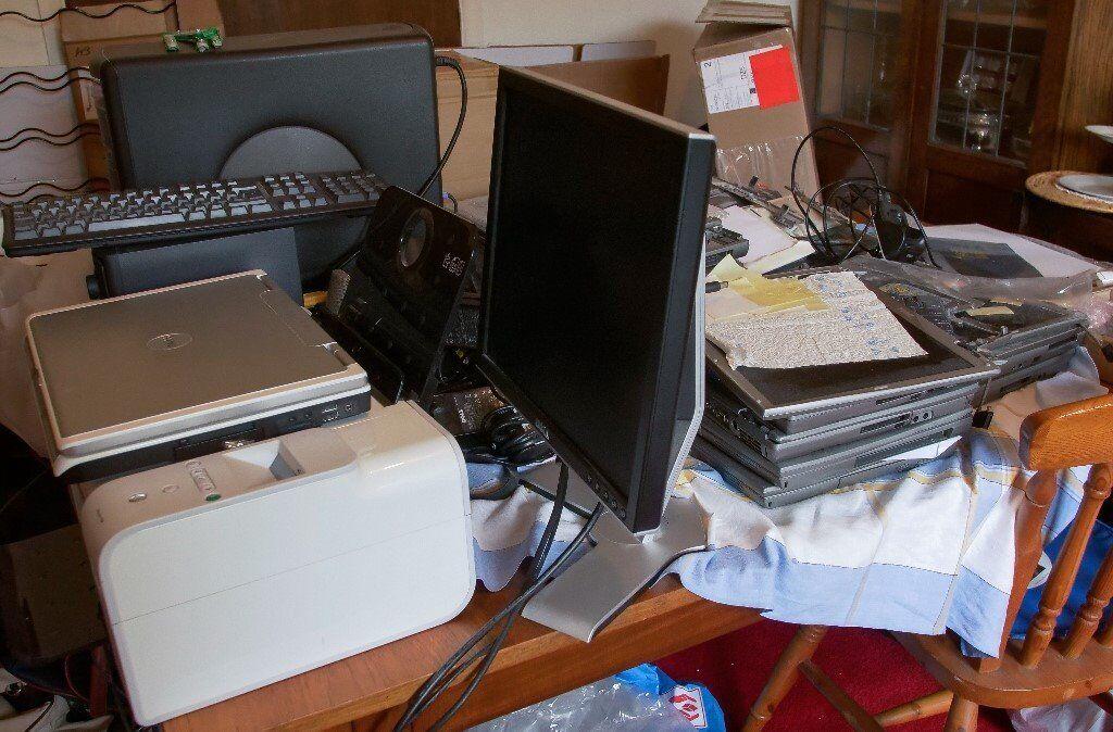 Dell Desktop Laptop Printer Joblot Computer Parts Hard Drive Ram Keyboards Screens