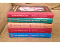 5 x A Series Of Unfortunate Events Hardback Books. Lemony Snicket 1/5/6/7/8.