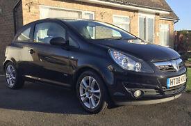 Vauxhall Corsa 1.2 i 16v SXi 3dr. 2008 - MOT AUG 17 + FULL SERVICE + ALLOYS