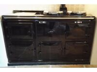 Beautiful 4 oven Aga 13 Amp electric conversion black rare top Inc installation