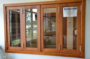 BIFOLD WINDOW, SOLID CEDAR TIMBER, 4 PANEL 1800X1200H, NEW Vineyard Hawkesbury Area Preview