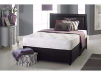 NEW KINGSIZE DIVAN BED SET + MEMORY MATTRESS + HEADBOARD 3FT 4FT 4FT6 Double 5FT