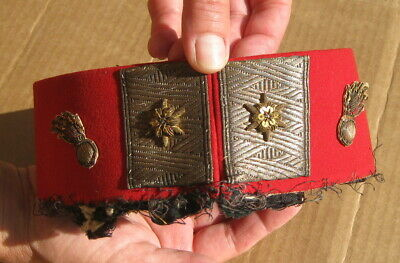 FRENCH ? ANTIQUE REVOLUTIONARY WAR ? REMOVED SOLDIERS UNIFORM COLLAR ARTIFACT