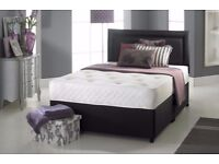 Sale till March == DOUBLE / KINGSIZE DIVAN BED + MEMORY MATTRESS + HEADBOARD 3FT 4FT 4FT6 Double 5FT