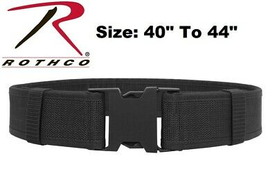 Black Size 40 To 44 Police Security Military Tactical Duty Belt 10570 Rothco