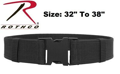 Black Size 32 To 38 Police Security Military Tactical Duty Belt 10570 Rothco