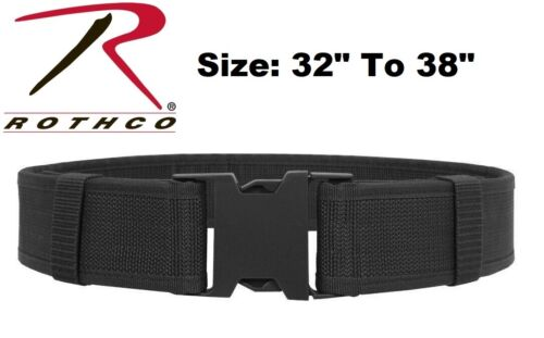 "Black Size 32"" To 38"" Police Security Military Tactical Duty Belt 10570 Rothco"