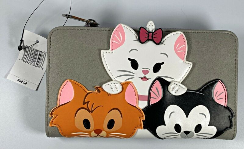 Disney Parks Loungefly Aristocats Cats Marie Berlioz Toulouse Clutch Wallet NEW