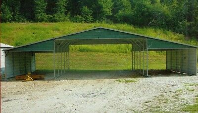 42x26 Metal Carport, Garage, All Steel Storage Building INSTALLED View our STORE