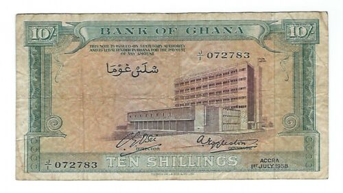 Ghana - Ten (10) Shillings, 1958