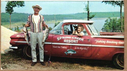 Spring Creek Resort BUSINESS CARD 1959 Chevrolet El Camino; Isabella, Missouri