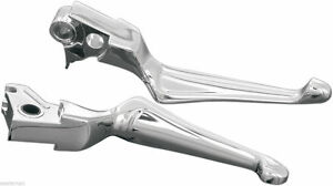 Kuryakyn-Chrome-Boss-Blades-Levers-Hydraulic-Clutch-99-06-Twin-Cam-amp-02-05-V-Rod