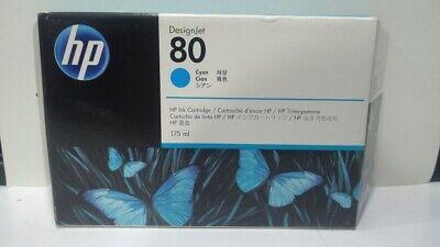 HP #80 C4872a Cyan DesignJet Ink Cartridge New Genuine