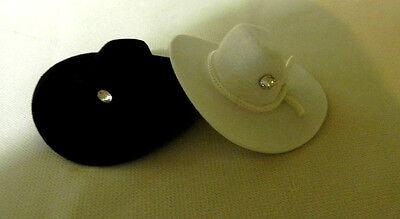 Wedding Crafts ~Swaroski~ Crystal (2) Western Mini Cowboy Hats 2