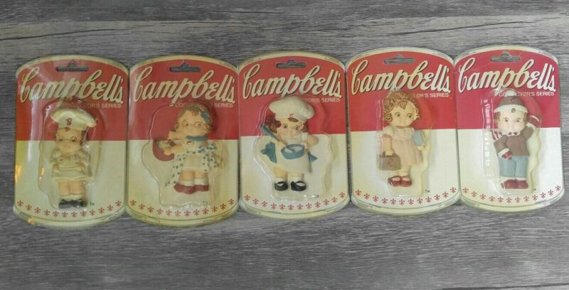 """*LOT OF 5* Vintage 1990 Campbell's Collector's Series Souper Kids 3""""Kids *NEW*"""
