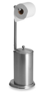 Satin Nickel Toilet Paper Stand