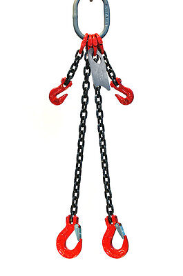 38 10 Foot Grade 80 Dosa Double Leg Lifting Chain Sling - Sling Hook Adjuster