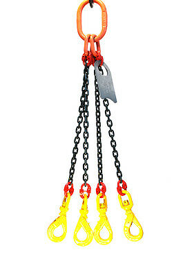 Chain Sling - 932 X 5 Quad Leg With Swivel Positive Locking Hooks - Grade 80