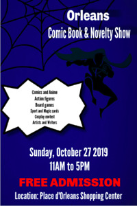 Orleans Comic Book & Novelty Show THIS SUNDAY!