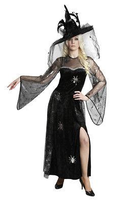 Rub - Halloween Damen Kostüm Spinnenfrau Hexe zur Walpurgisnacht ()