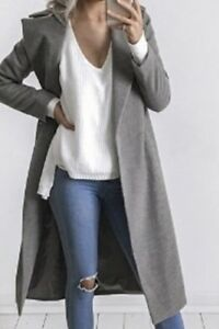 Autumn Winter Fashion Wing-Collar Maxi Draped Trench Coat (2)