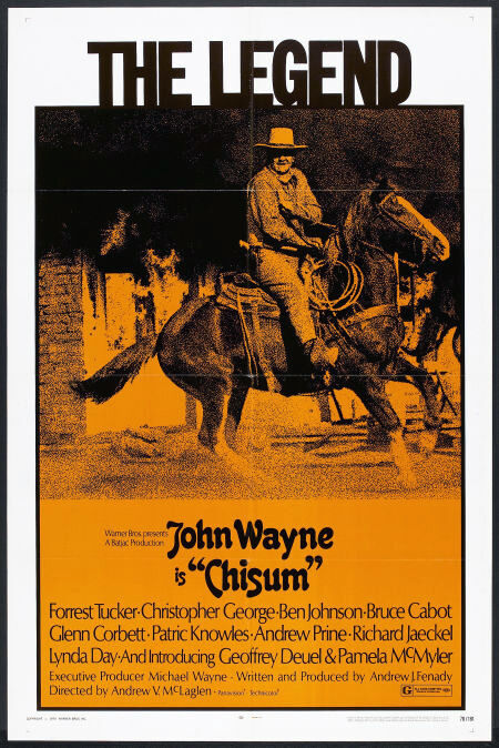 CHISUM original 1970 27x41 one sheet movie poster JOHN WAYNE