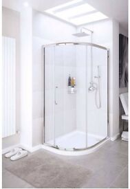 Shower door quadrant