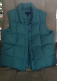 Land's End gilet with 80% down, 20% feather filling