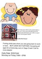 Sage Creek Home Daycare / Before & After School