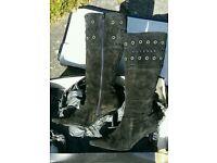 Ladies Bertie Suede Boots size 41