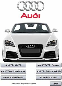 Audi Tt Repair Manual Ebay