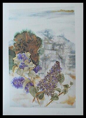 Ahmweiler Through the lilas Poster Bild Kunstdruck im Alu Rahmen schwarz 70x50cm